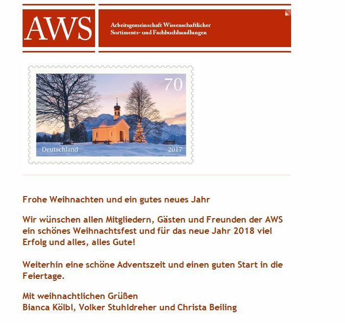 Weihnachtsgrüße AWS