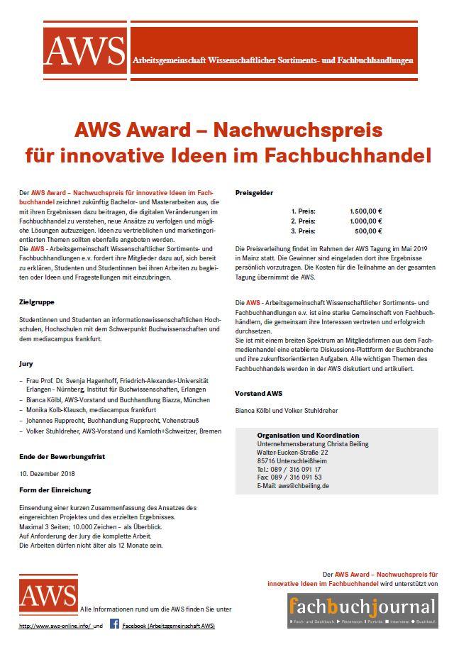 Plakat AWS Award